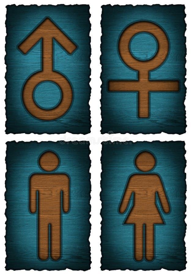 Símbolo das mulheres dos homens isolado ilustração do vetor
