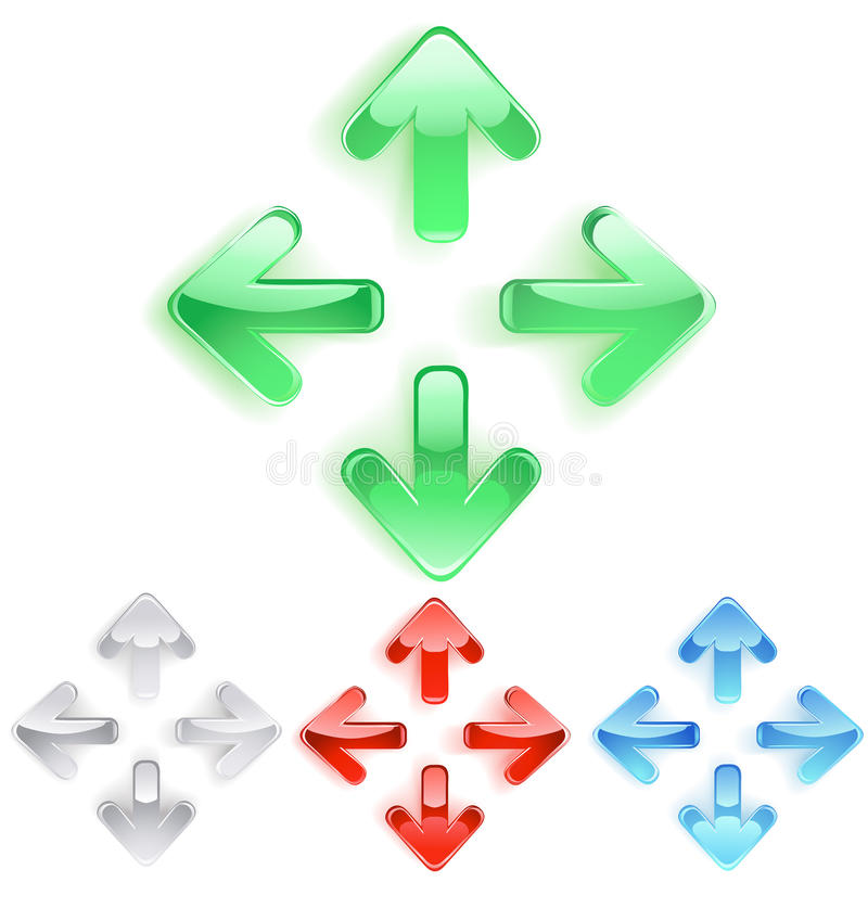 Símbolo das setas do vidro liso ilustração do vetor