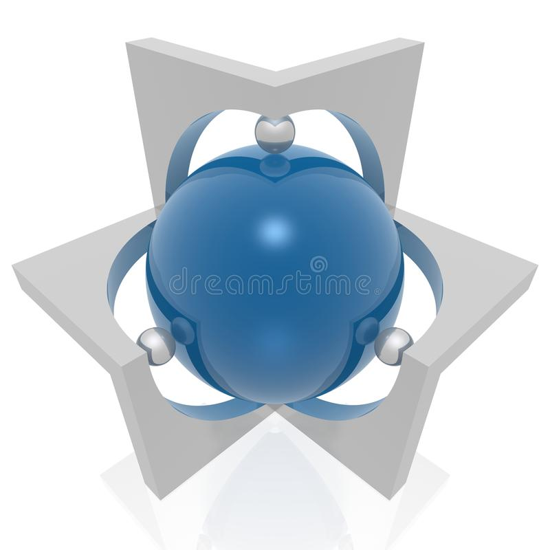 Símbolo de Absract 3d stock de ilustración