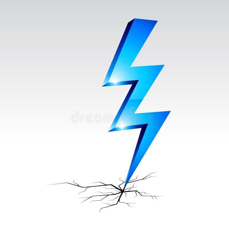 Símbolo de advertência da eletricidade. ilustração do vetor