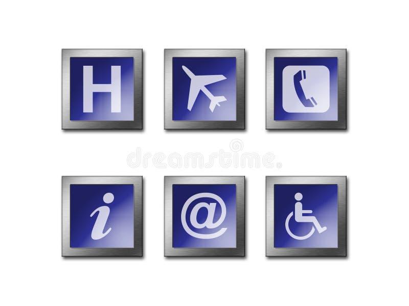 Símbolo de advertência do sinal ilustração stock