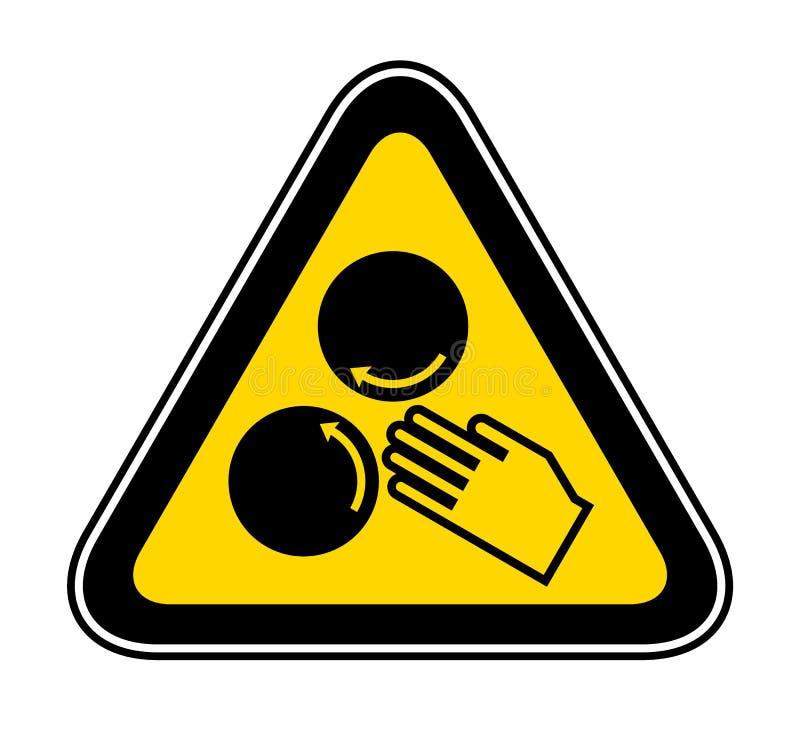 Símbolo de advertência triangular do perigo ilustração do vetor