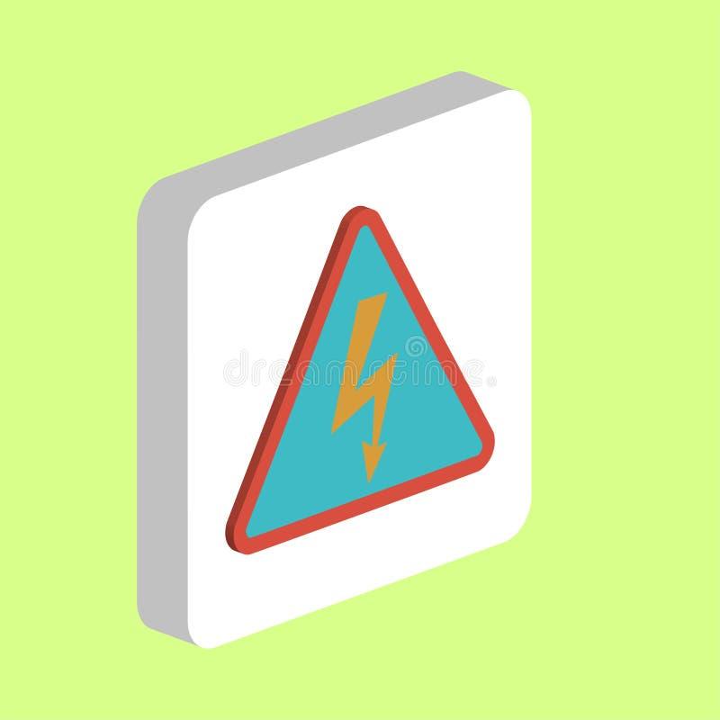 Símbolo de alta tensão do computador ilustração royalty free
