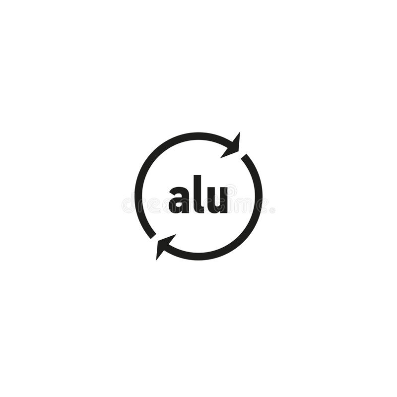 S mbolo de alum nio recicl vel no fundo branco ilustra o - Simbolo de aluminio ...