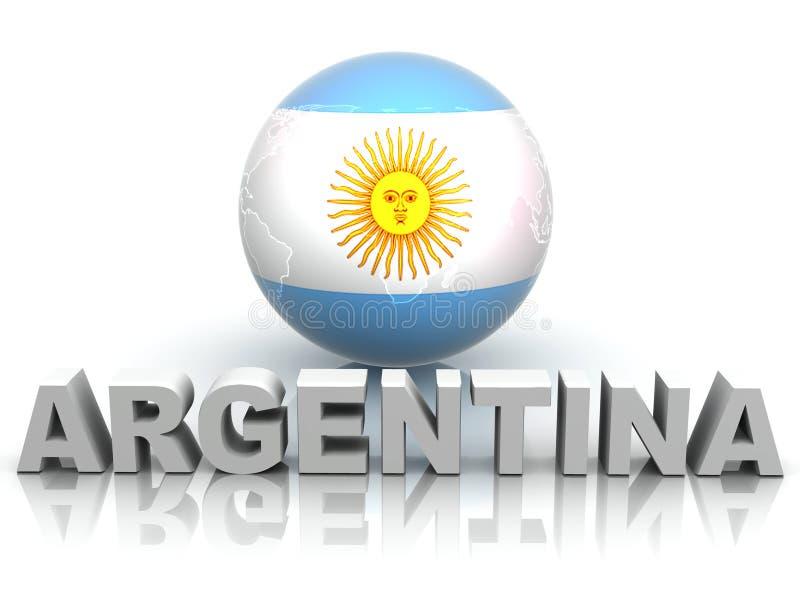 Símbolo de Argentina ilustração stock