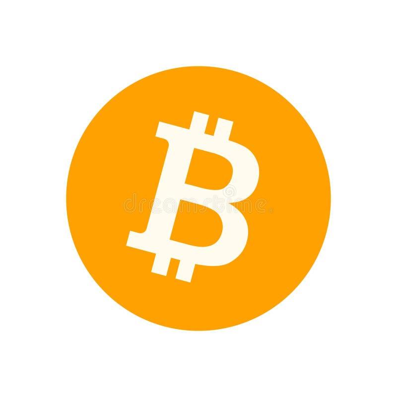 Símbolo de Bitcoin aislado en el fondo blanco stock de ilustración