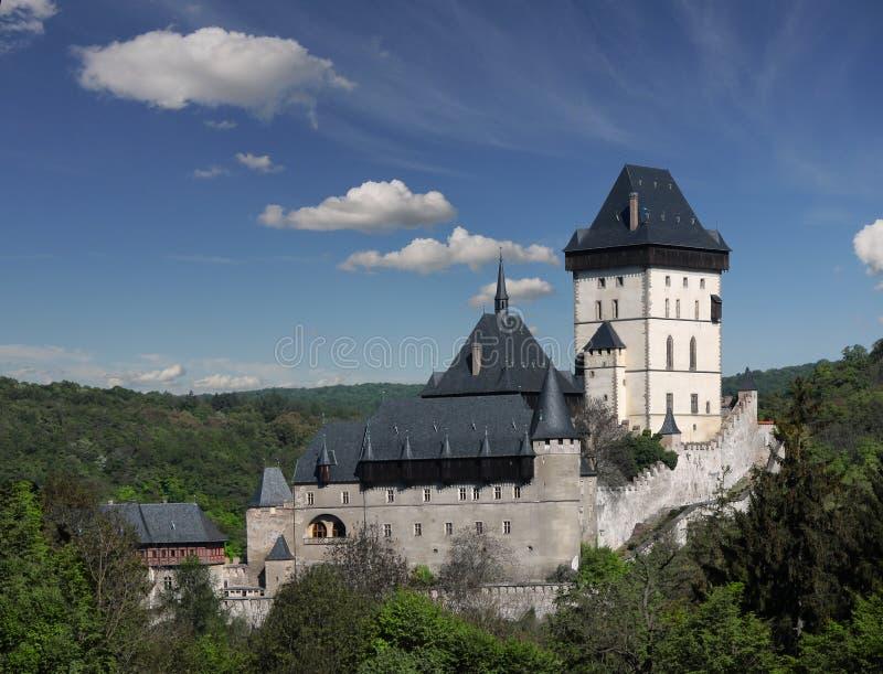 Símbolo de Bohemia de la joya de la historia de la herencia de la señal del castillo de Karlstein imágenes de archivo libres de regalías