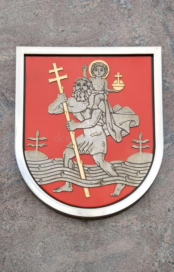 Símbolo de capital de la ciudad de Lituania Vilnius imagenes de archivo