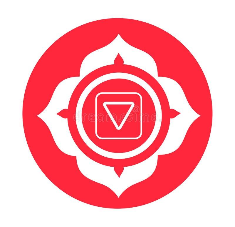 Símbolo de Chakra ilustração stock