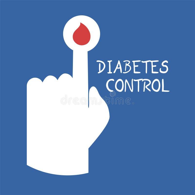 Símbolo de controle do diabetes ilustração stock