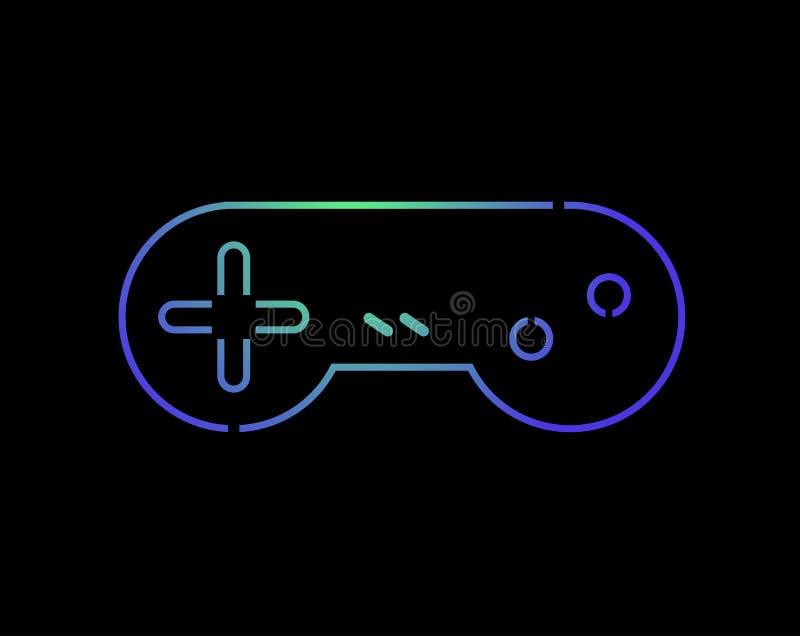 Símbolo de controle retro da cor agradável ilustração do vetor