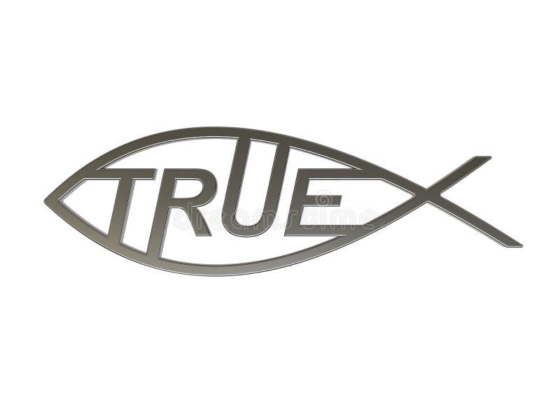 Símbolo de Cristo como verdad Conocimiento verdadero ilustración 3D ilustración del vector