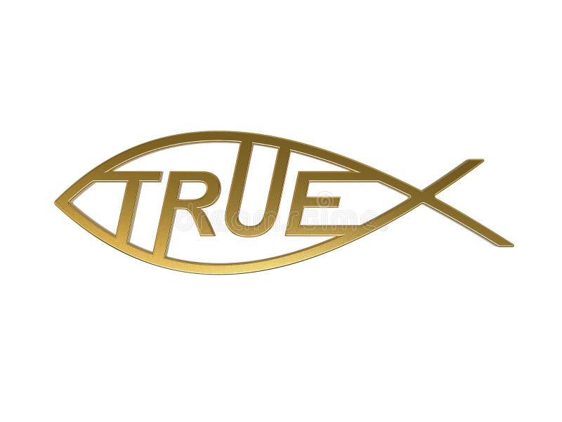 Símbolo de Cristo como verdad Conocimiento verdadero ilustración 3D stock de ilustración