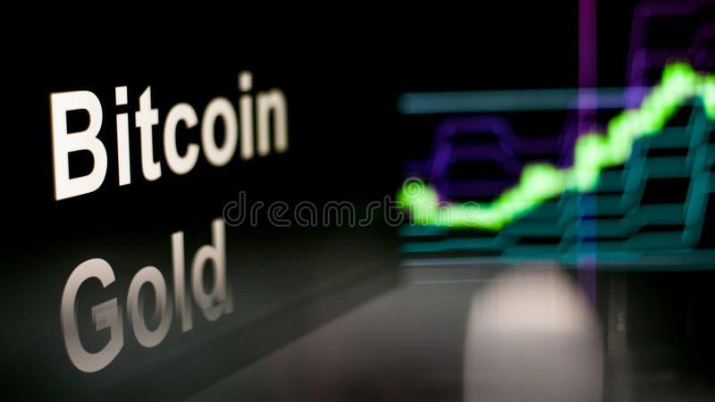 Símbolo de Cryptocurrency del oro de Bitcoin El comportamiento de los intercambios del cryptocurrency, concepto Tecnolog?as finan ilustración del vector