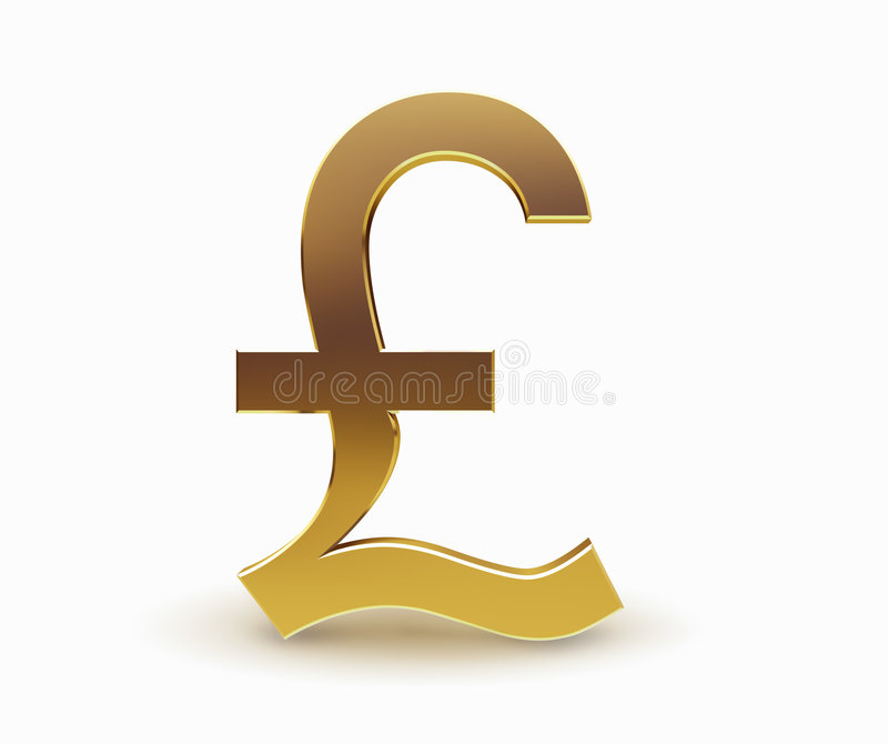 Símbolo de dinero en circulación de la libra fotografía de archivo