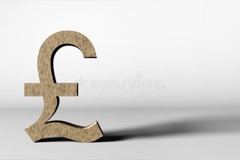 Símbolo de moneda de la libra en el fondo blanco imágenes de archivo libres de regalías