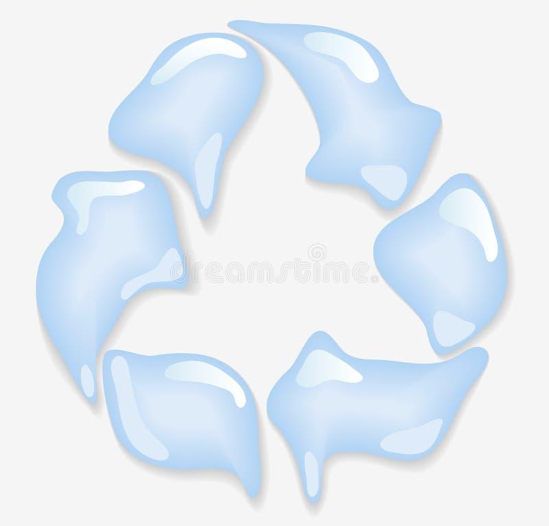 Símbolo de Eco de gotas del agua stock de ilustración