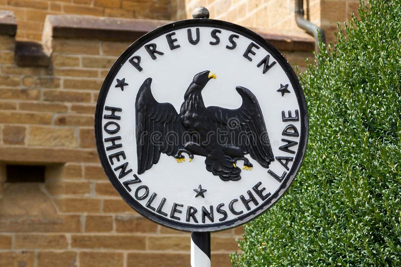 Símbolo de emblemas históricos de Prússia fotografia de stock royalty free
