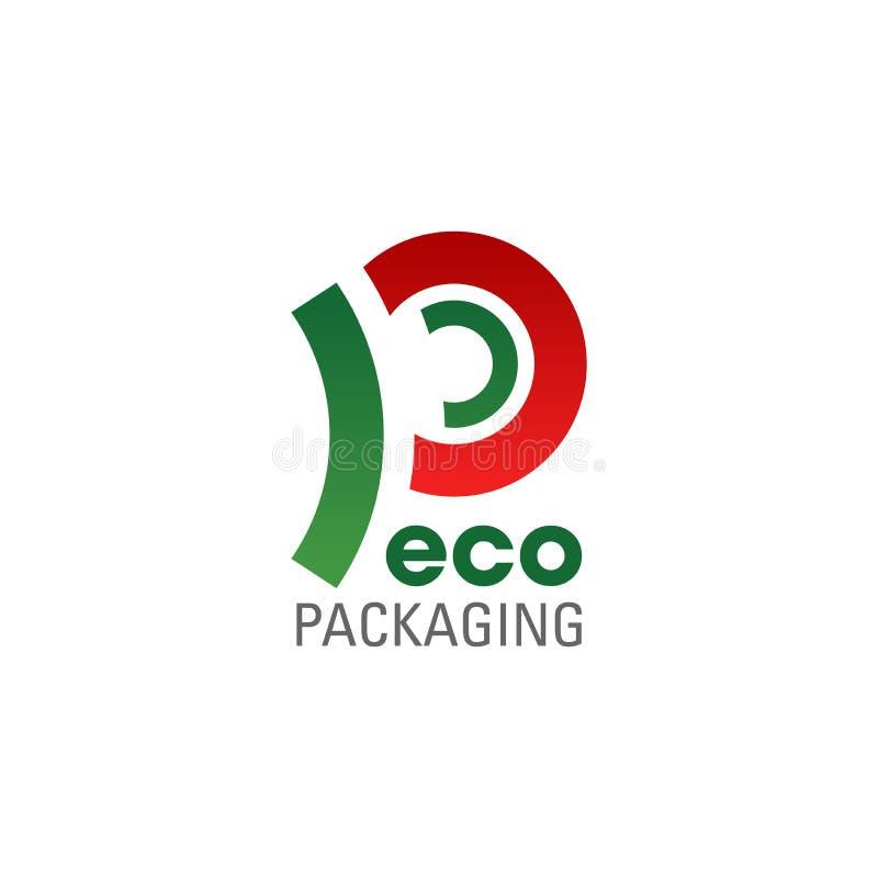 Símbolo de empacotamento de Eco da empresa amigável da ecologia ilustração royalty free