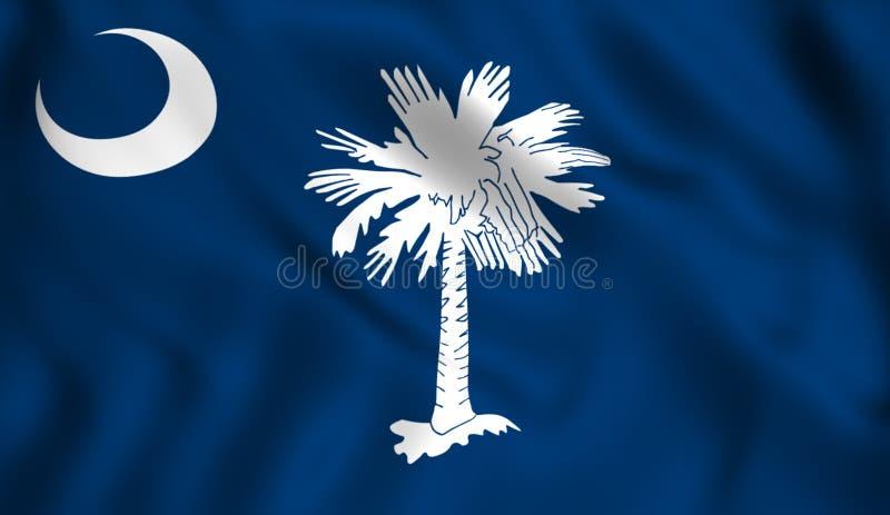 Símbolo de estado de Carolina del Sur los E.E.U.U. de la bandera stock de ilustración