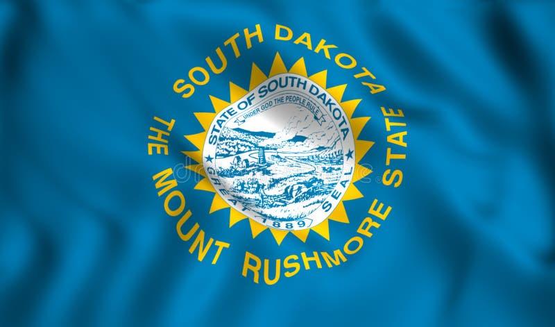Símbolo de estado dos E.U. da bandeira de South Dakota ilustração royalty free