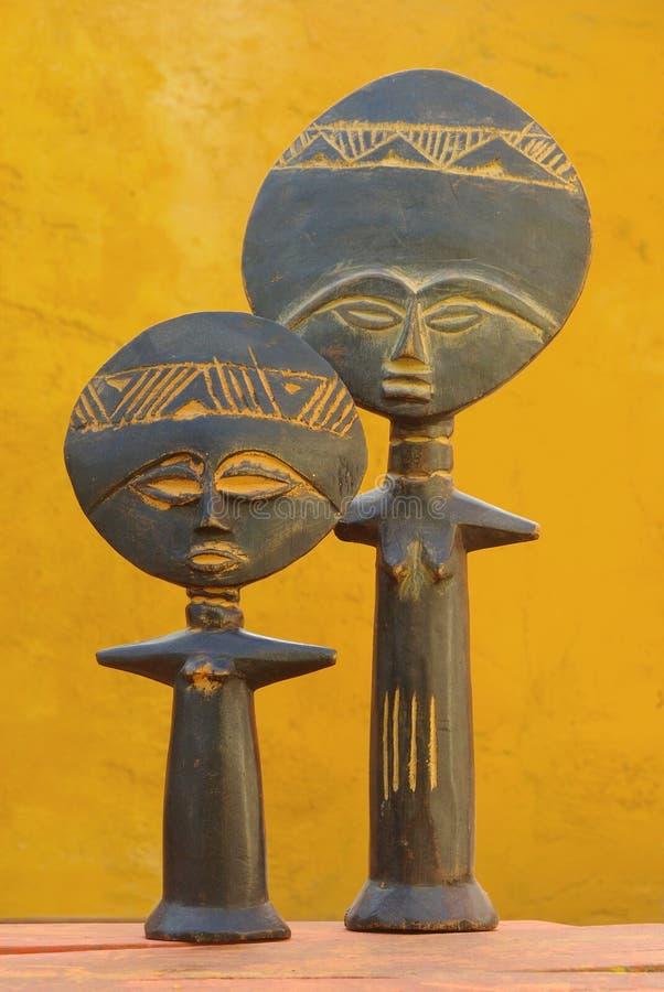 Símbolo de fertilidade africano imagem de stock