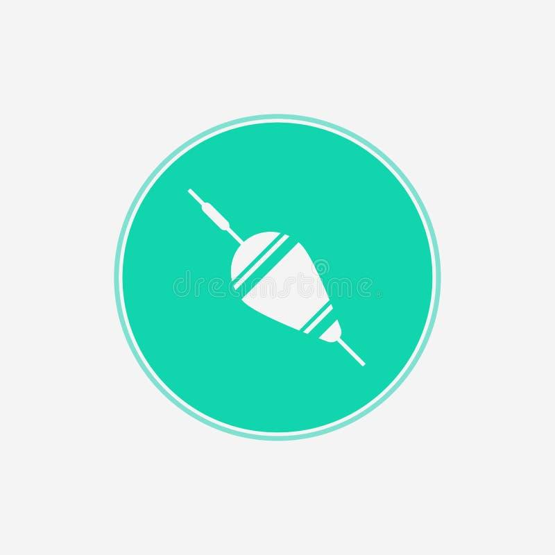 Símbolo de flutuação do sinal do ícone do vetor do bobber ilustração royalty free