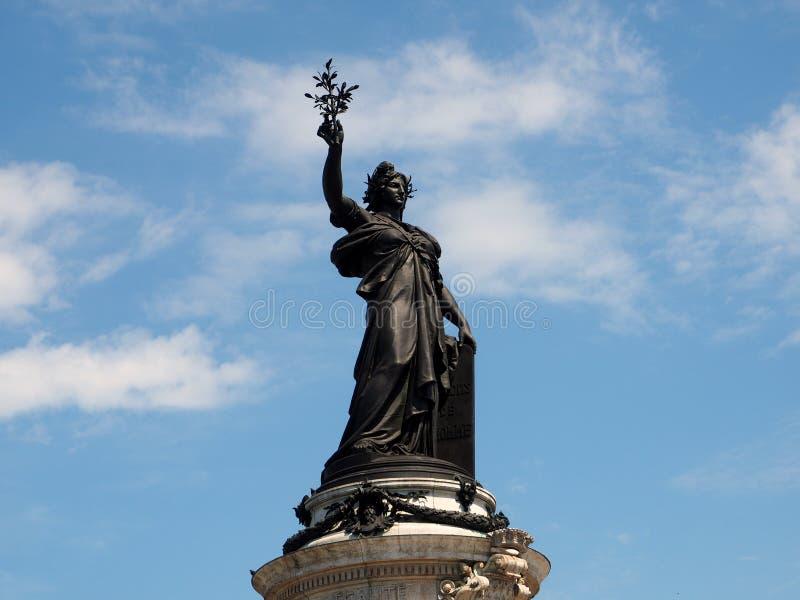 Símbolo de French Republic, a estátua de Marianne imagem de stock