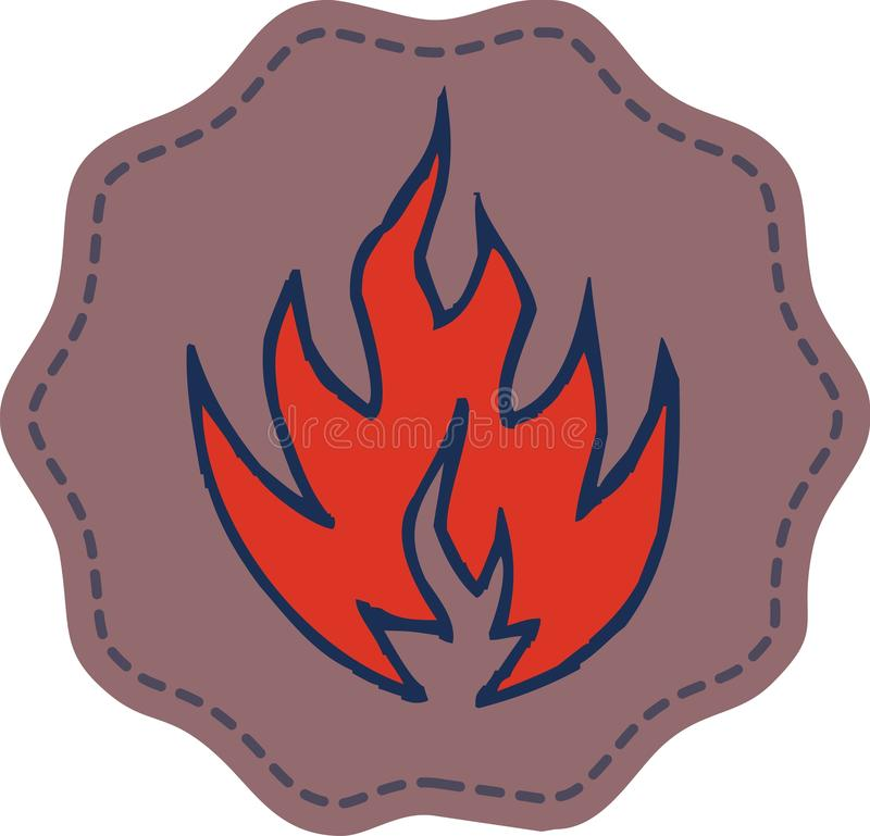 Símbolo de fuego fotos de archivo