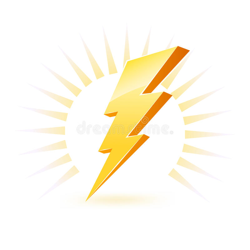 Símbolo de gran alcance de la iluminación ilustración del vector