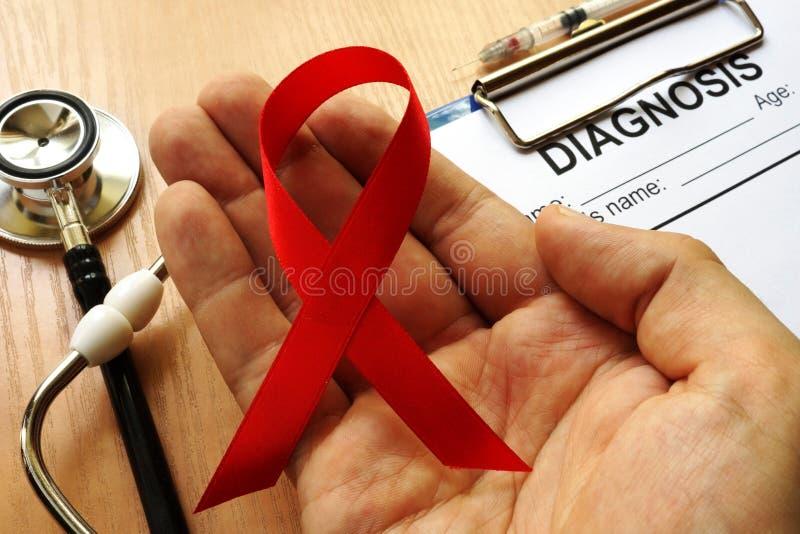 Símbolo de HIV/AIDS imagens de stock