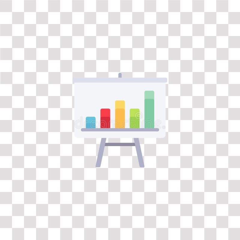 símbolo de icono de gráfico de barras icono de color de gráfico de barras para el diseño de sitios web y el desarrollo de aplicac stock de ilustración
