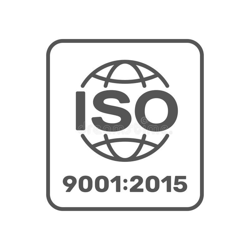 Símbolo de ISO 9001 2015 certificados Ilustra??o do vetor Eps 10 ilustração royalty free