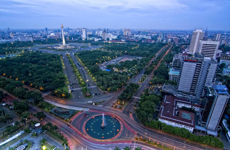 Símbolo de Jakarta imagen de archivo