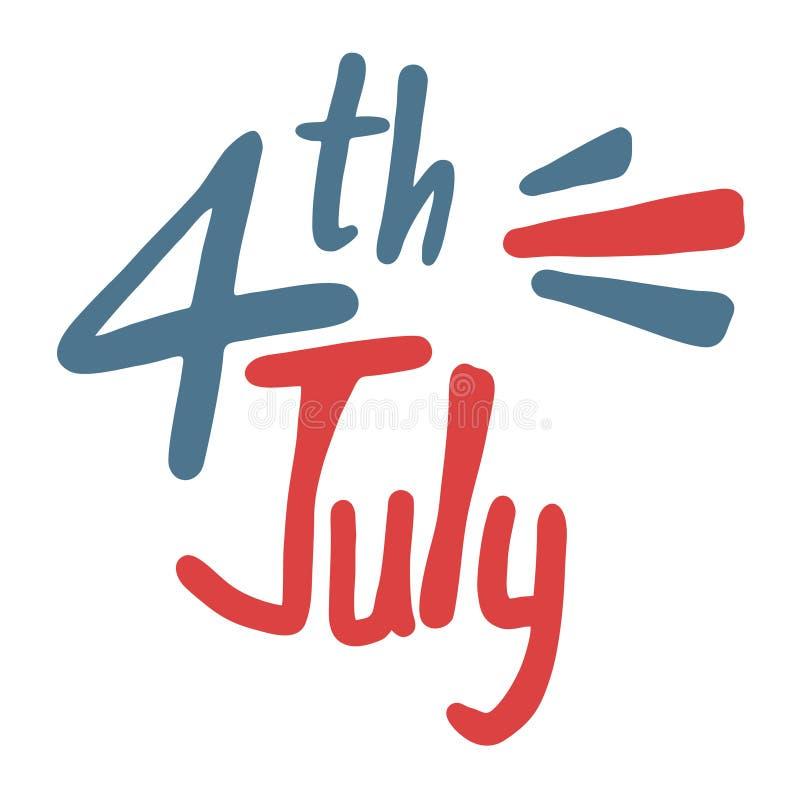 Símbolo de julho quatro ilustração stock