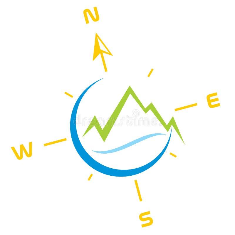 Símbolo de la aventura ilustración del vector