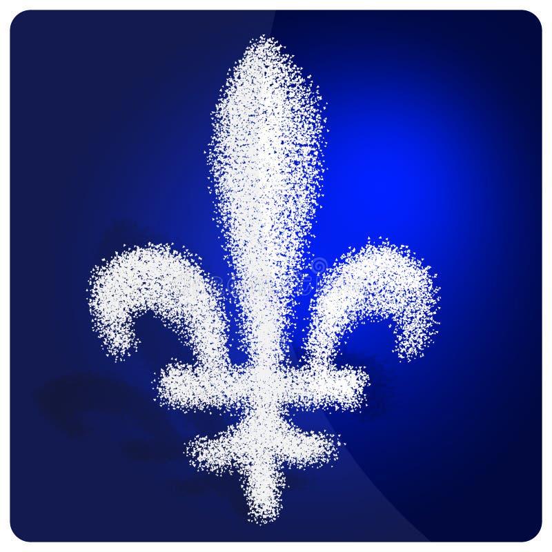 Símbolo de la bandera de Quebec stock de ilustración