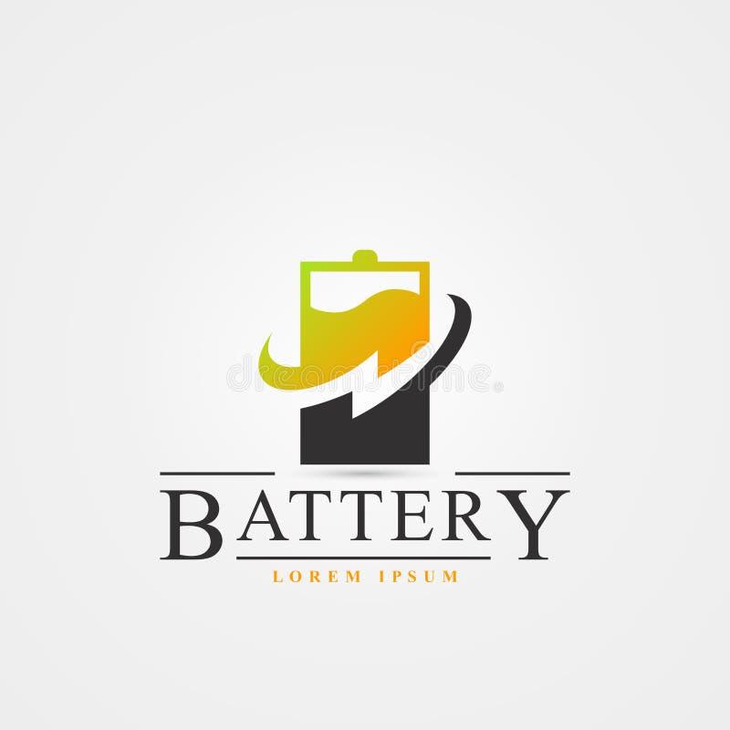 Símbolo de la batería Icono creativo con el relámpago Vector libre illustration