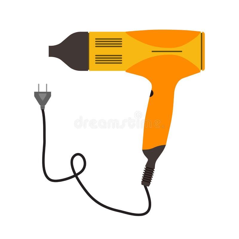 Símbolo de la belleza del salón del vector del icono del secador de pelo Peluquero del ejemplo ilustración del vector