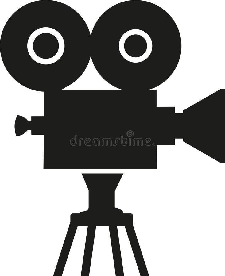 Símbolo de la cámara de película stock de ilustración