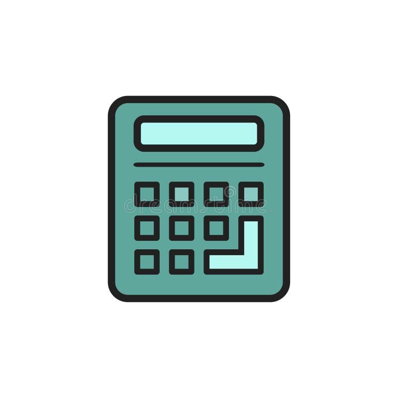 Símbolo de la calculadora del vector - muestra aislada, icono del ejemplo de las matemáticas de la calculadora ilustración del vector