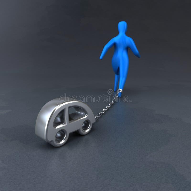 Símbolo de la carga - ejemplo 3D libre illustration