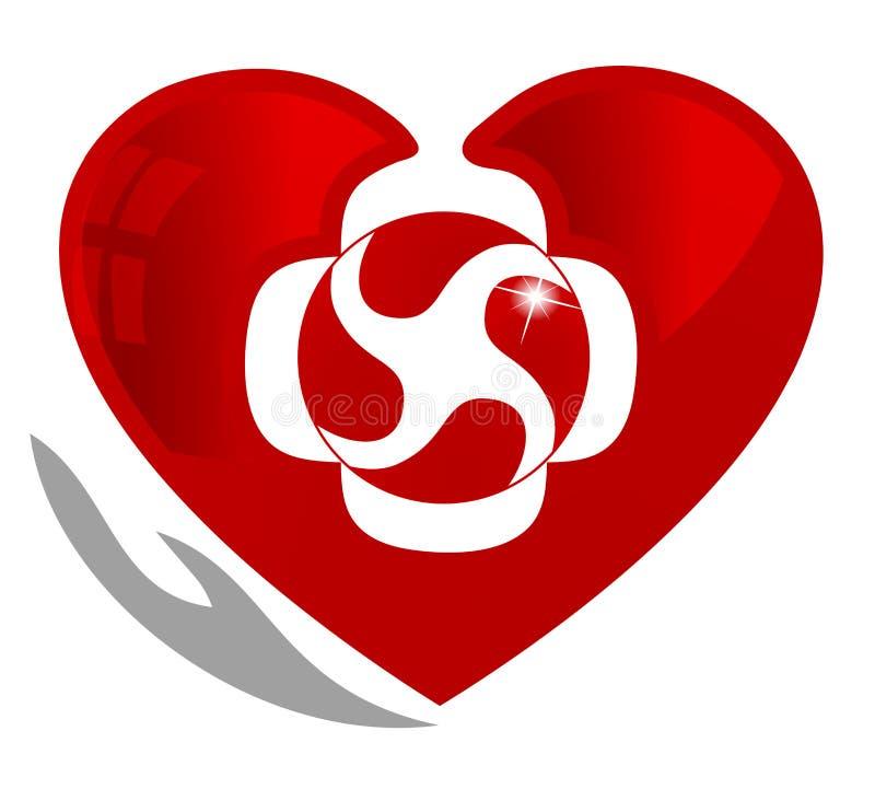 Símbolo de la circulación de sangre stock de ilustración