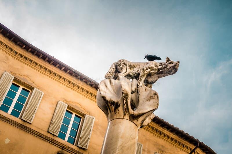 Símbolo de la ciudad de Siena Toscana fotos de archivo