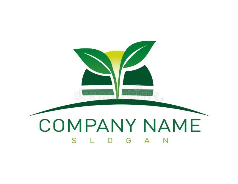 Símbolo de la compañía que ajardina stock de ilustración