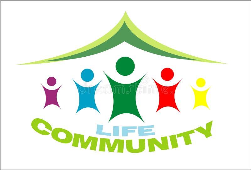 Símbolo de la comunidad de la vida stock de ilustración