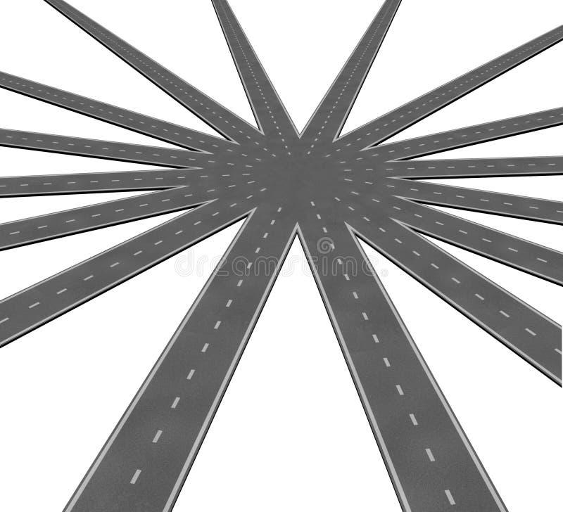 Símbolo de la conexión de las personas del asunto stock de ilustración