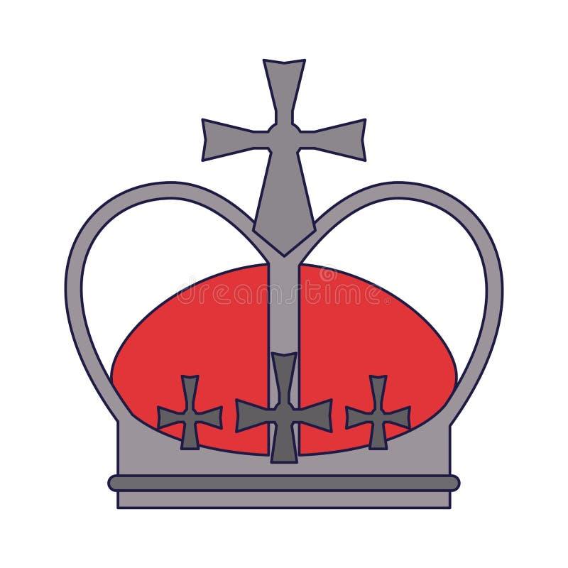Símbolo de la corona de la reina stock de ilustración