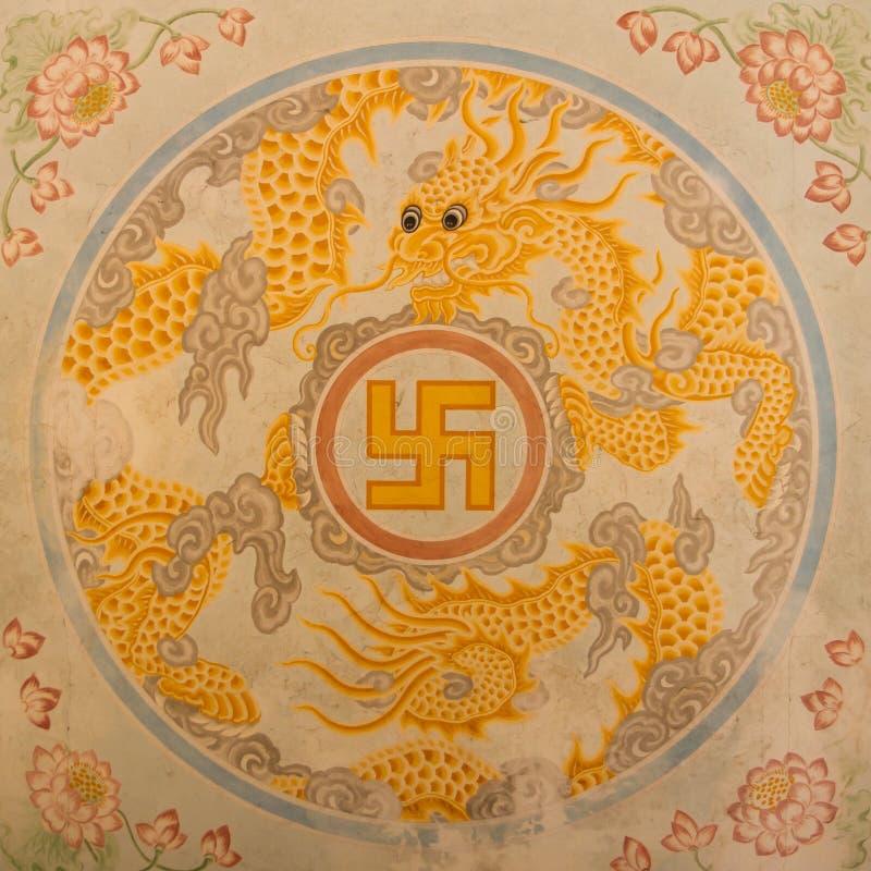 Símbolo de la cruz gamada en la decoración libre illustration
