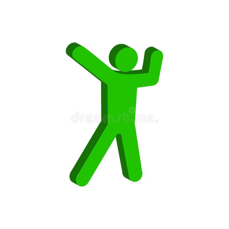 Símbolo de la danza Icono o logotipo isométrico plano pictograma FO del estilo 3D stock de ilustración